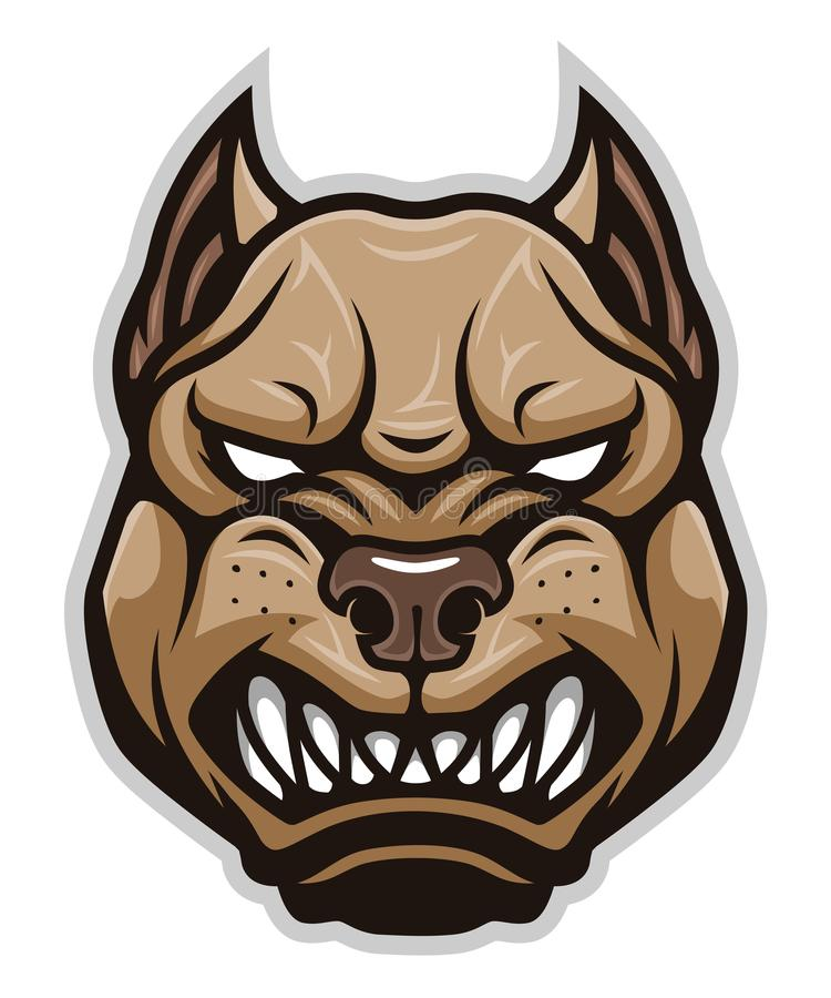Chef fâché de pitbull de chien illustration libre de droits