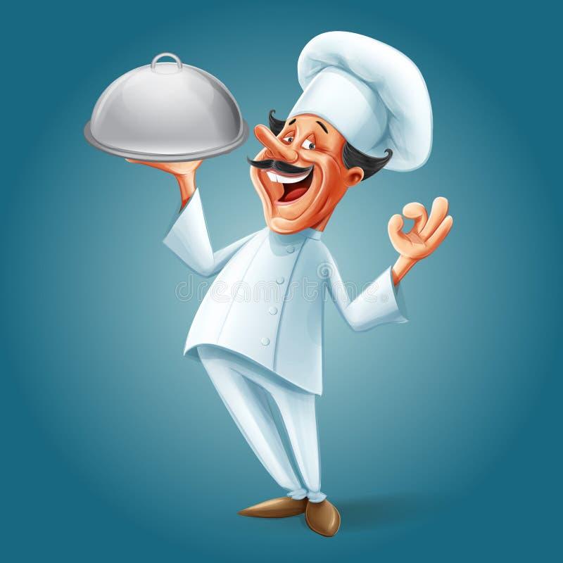Chef FAHNE stock abbildung