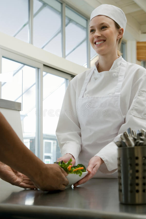 Chef with food royalty free stock image