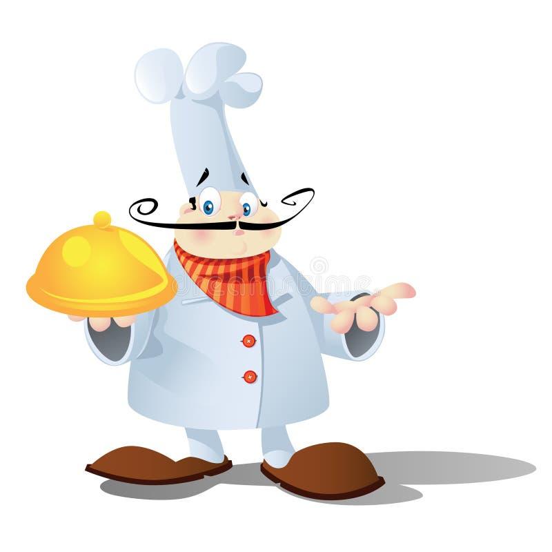 Chef français illustration stock