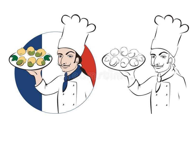 Chef français illustration libre de droits