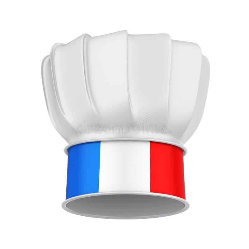 Chef français Hat Isolated illustration libre de droits