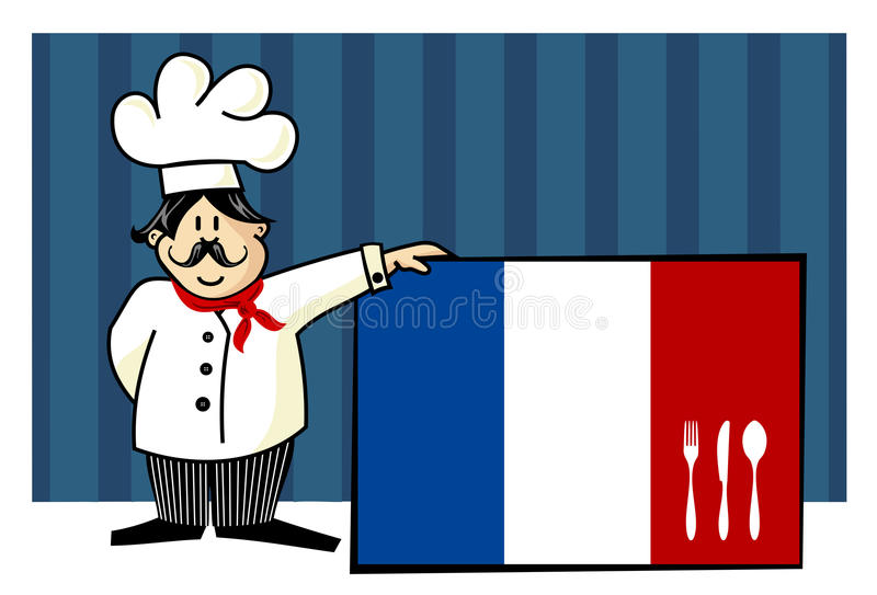 Download Chef of french cuisine stock vector. Image of knife, funny - 11160538