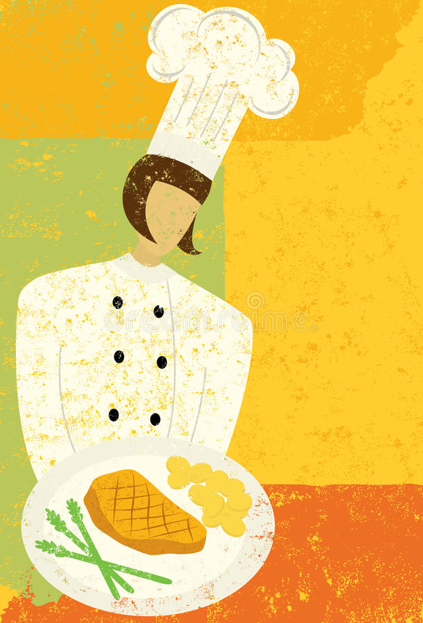Chef gastronomique illustration stock