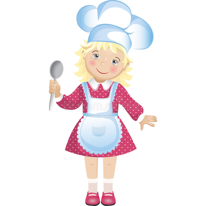 Chef Girl image stock