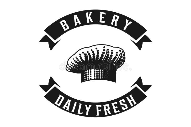 chef hat, bakery logo Designs Inspiration Isolated on White Background. stock illustration