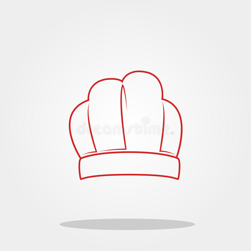 Download Chef Hat Cute Icon In Trendy Flat Style Isolated On Color Background Kitchenware Symbol