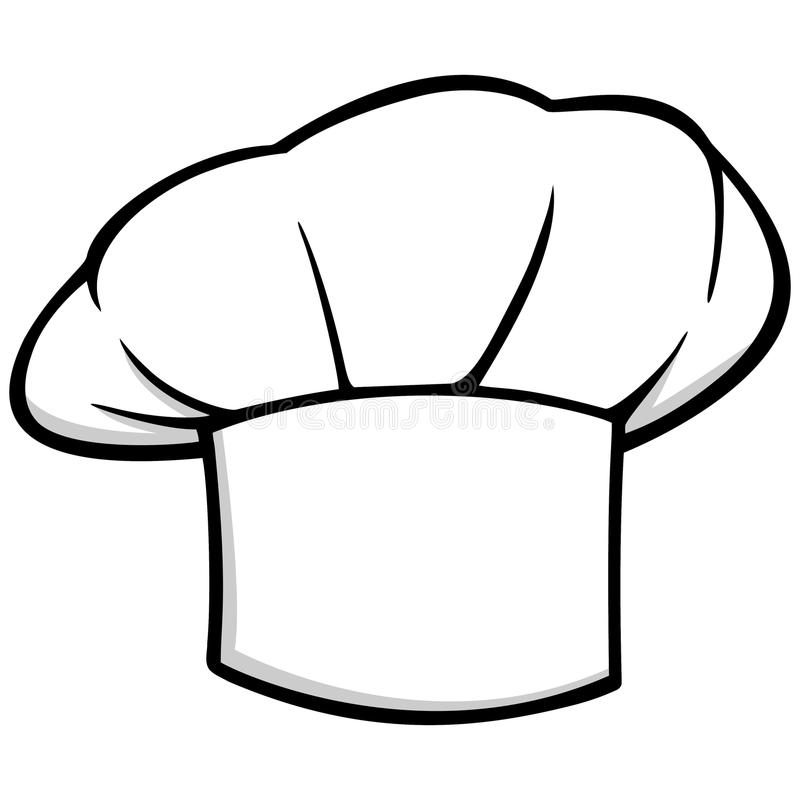 0a3a484e48a5f Chef Hat Icon. A vector illustration of a Chef Hat royalty free illustration