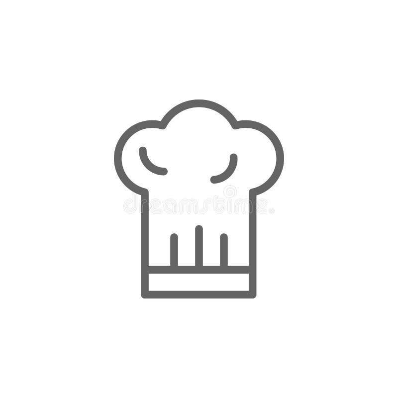 Chef hat, ikona Włoch Ikona Element Włoch Ikona cienkiej linii do projektowania i projektowania witryn internetowych, tworzenia a ilustracja wektor