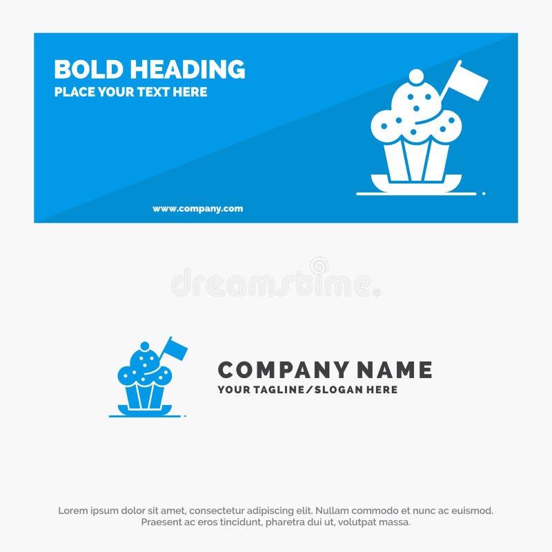 Chef, Chef Hat, Kocher, Kocher-Hut, Flaggen-feste Ikonen-Website-Fahne und Geschäft Logo Template vektor abbildung