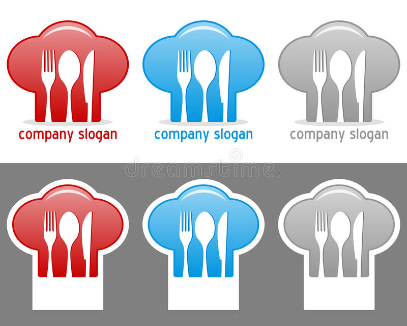 Chef Hat Logo Collection royalty free illustration