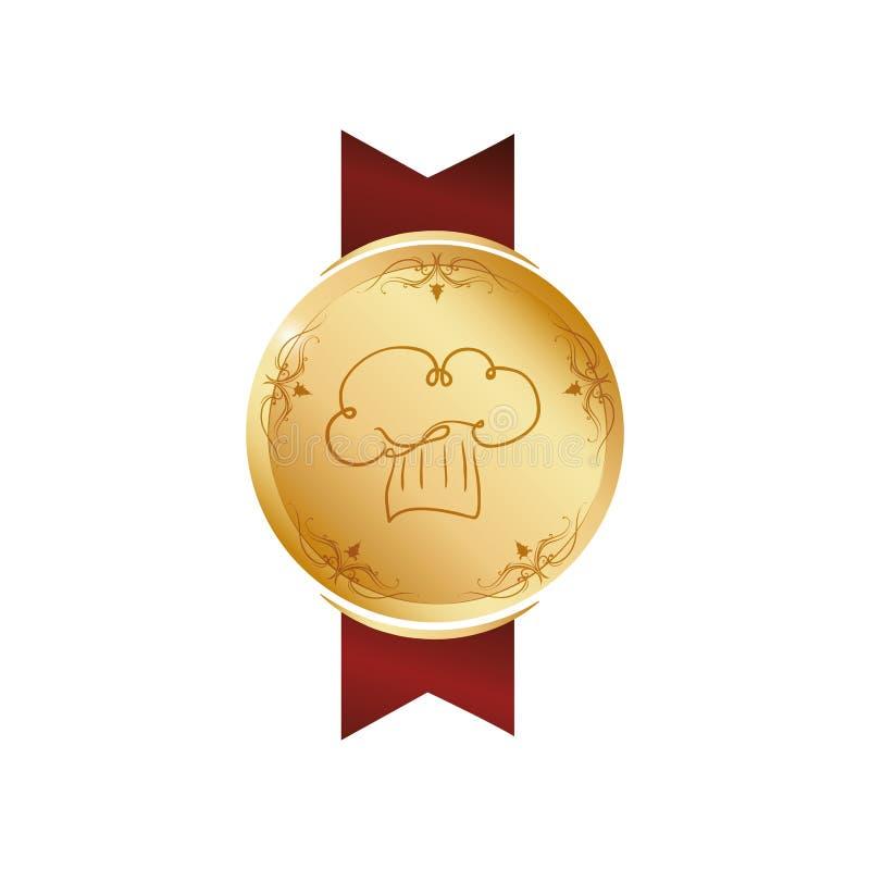 Chef Hat Symbol lizenzfreie abbildung