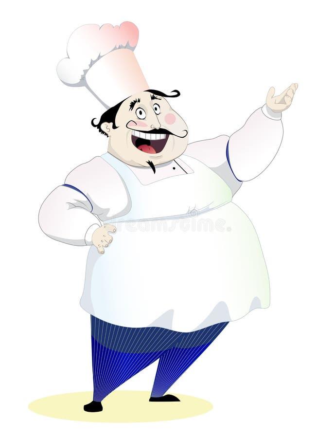 chef heureux illustration stock