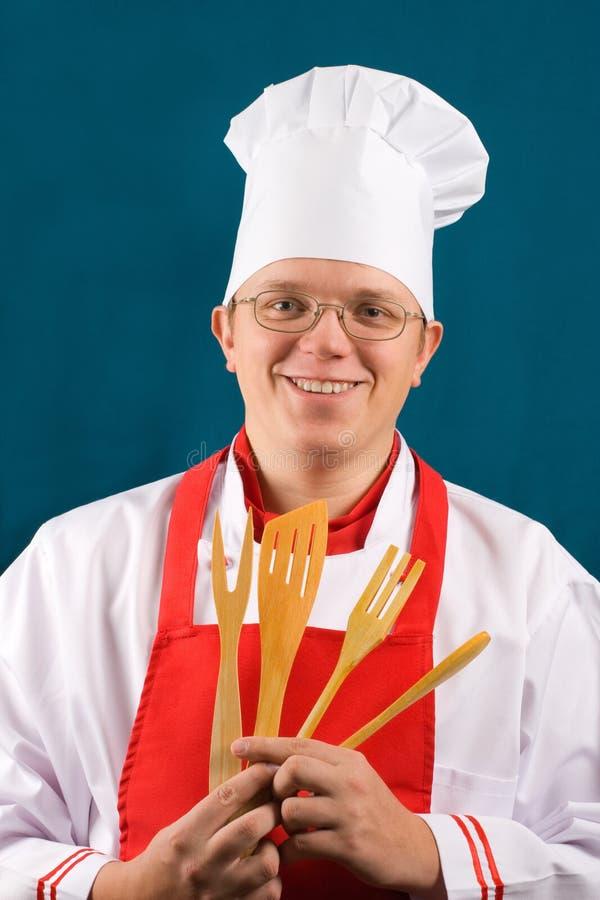 Chef heureux image stock