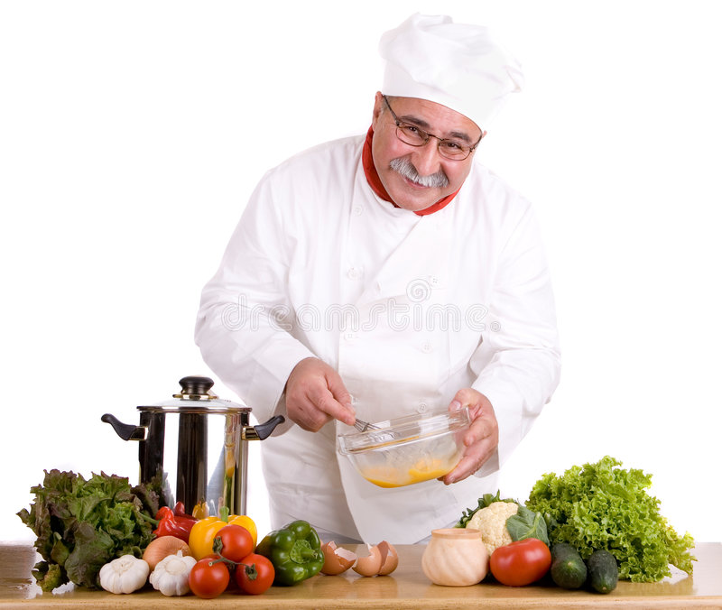 Chef heureux images stock