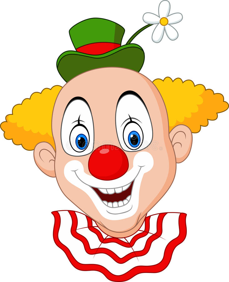 Chef heureux de clown de bande dessinée illustration stock