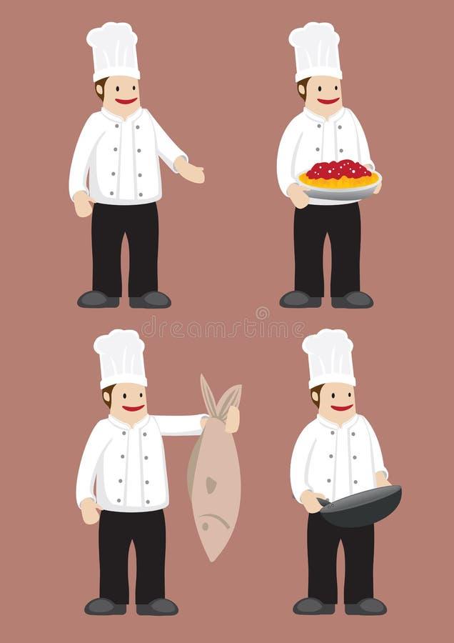 Chef heureux Vector Cartoon Character illustration de vecteur