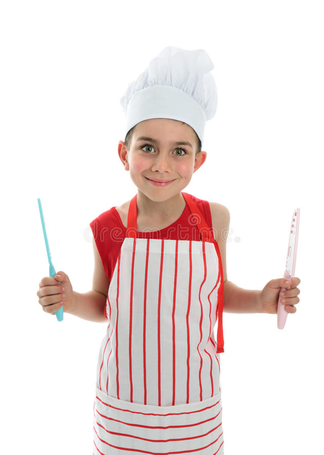 Download Chef holding two knives stock image. Image of domestic - 16902031