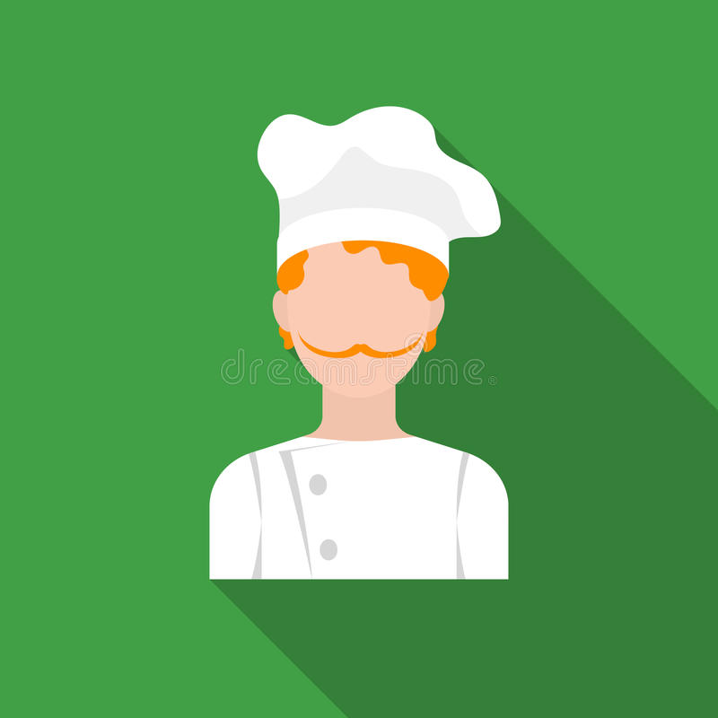 Chef icon in flat style isolated on white background. Pizza and pizzeria symbol stock vector illustration. vector illustration