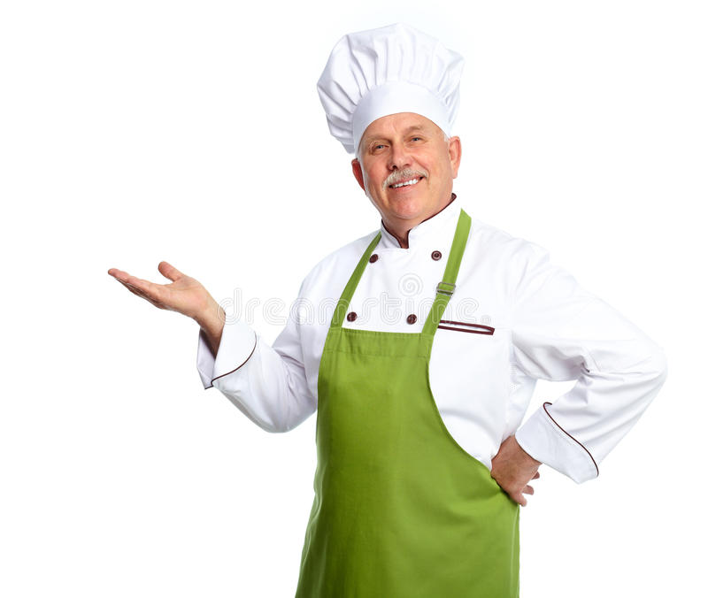 Chef Inviting At Restaurant. Stock Image
