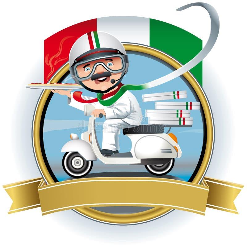 Chef italien illustration de vecteur