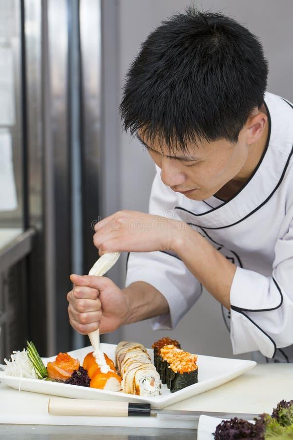 Chef japonais images libres de droits