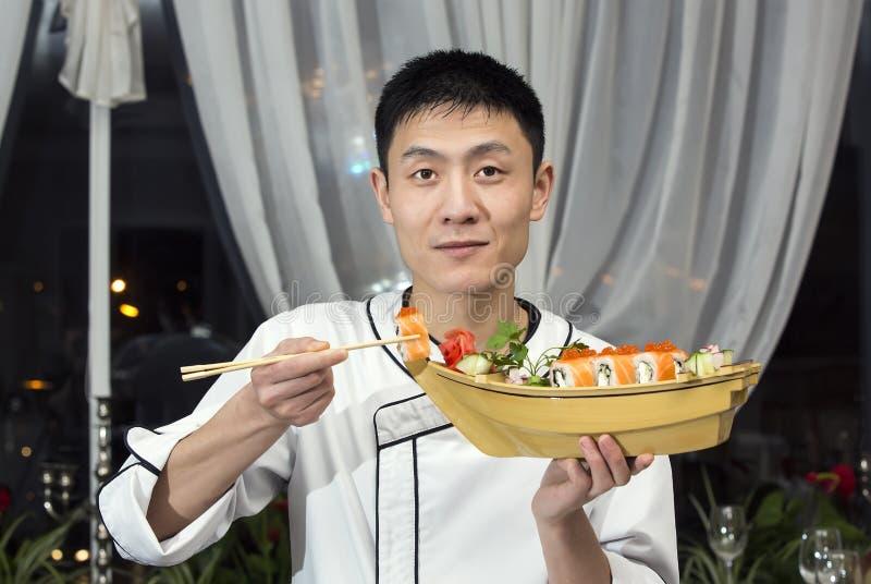 Chef japonais image libre de droits