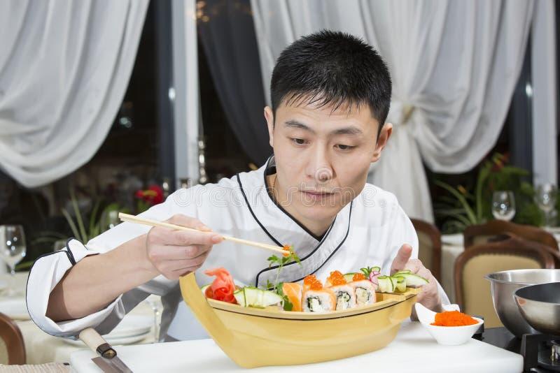 Chef japonais images stock