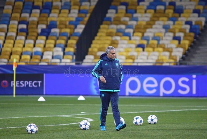 Chef Jose Mourinho för FC Chelsea arkivfoton