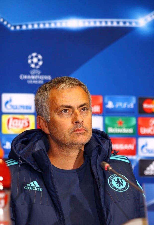 Chef Jose Mourinho för FC Chelsea royaltyfria foton