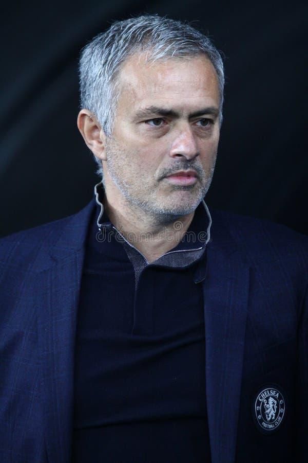 Chef Jose Mourinho för FC Chelsea arkivfoto