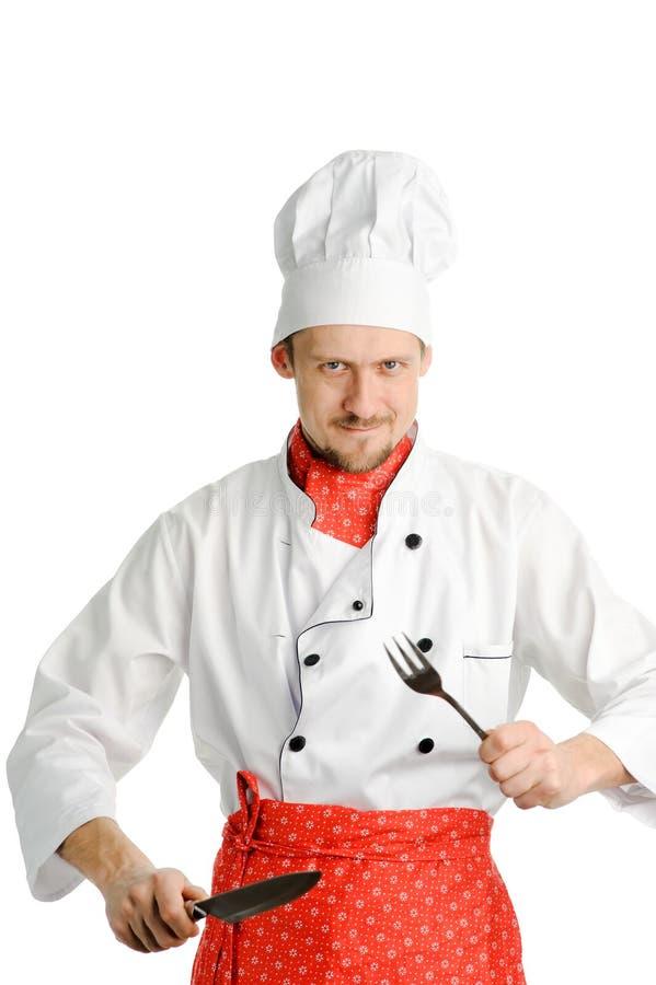 Chef joyeux photo libre de droits