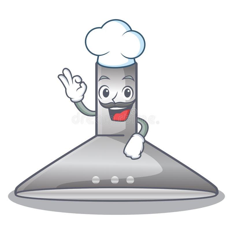 Chef kichen hood in the mascot shape. Vector illustration stock illustration