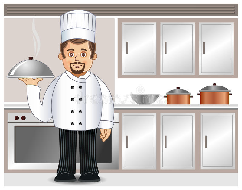 Download A chef in a kitchen stock vector. Illustration of caterer - 25174209