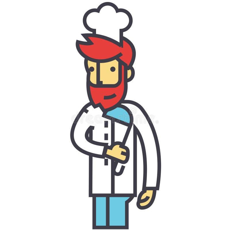 Chef, Kocher, Restaurantküchenkonzept vektor abbildung