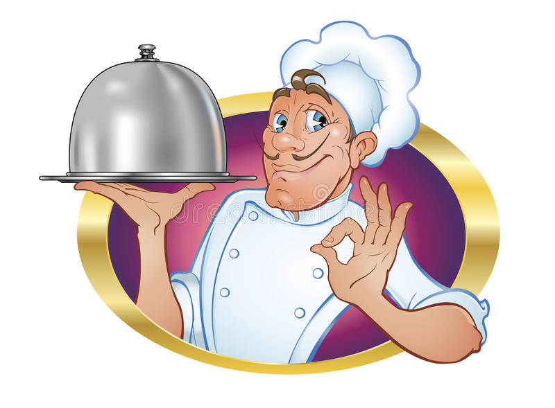 Chef-kok vector illustratie