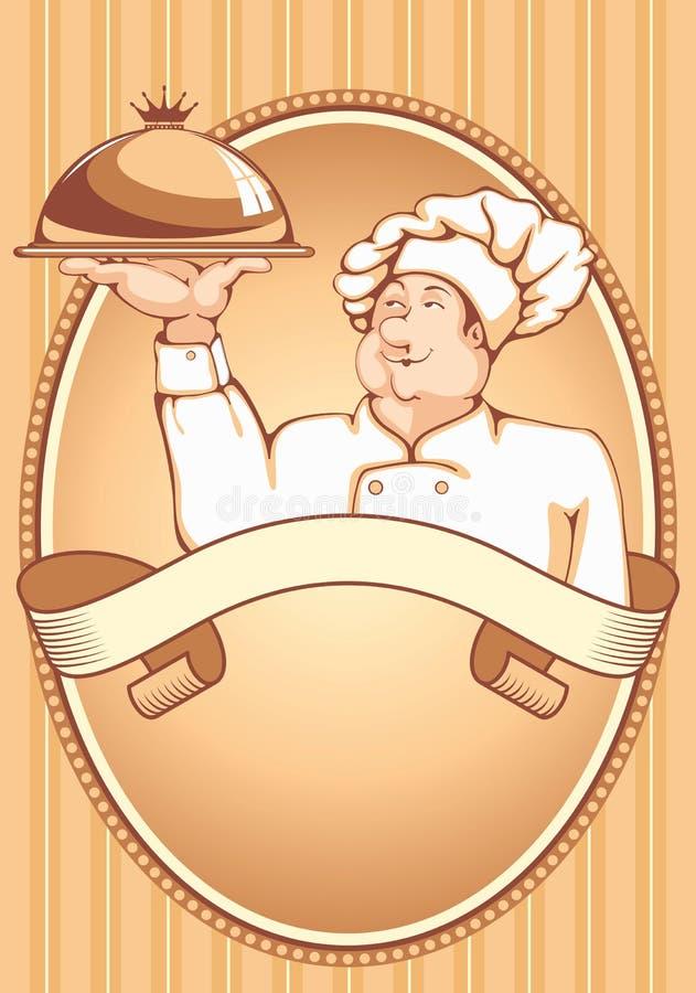 Chef-kok royalty-vrije illustratie