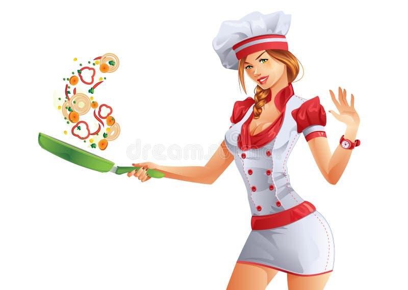 Chef-kok stock illustratie