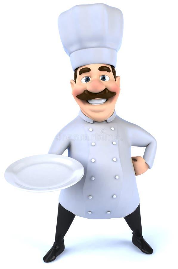 Chef-kok vector illustratie