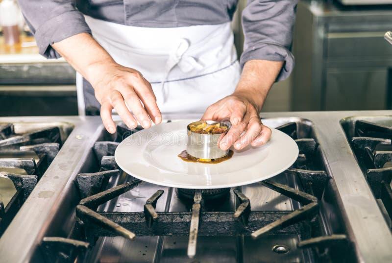 Chef-kok Cooking royalty-vrije stock fotografie