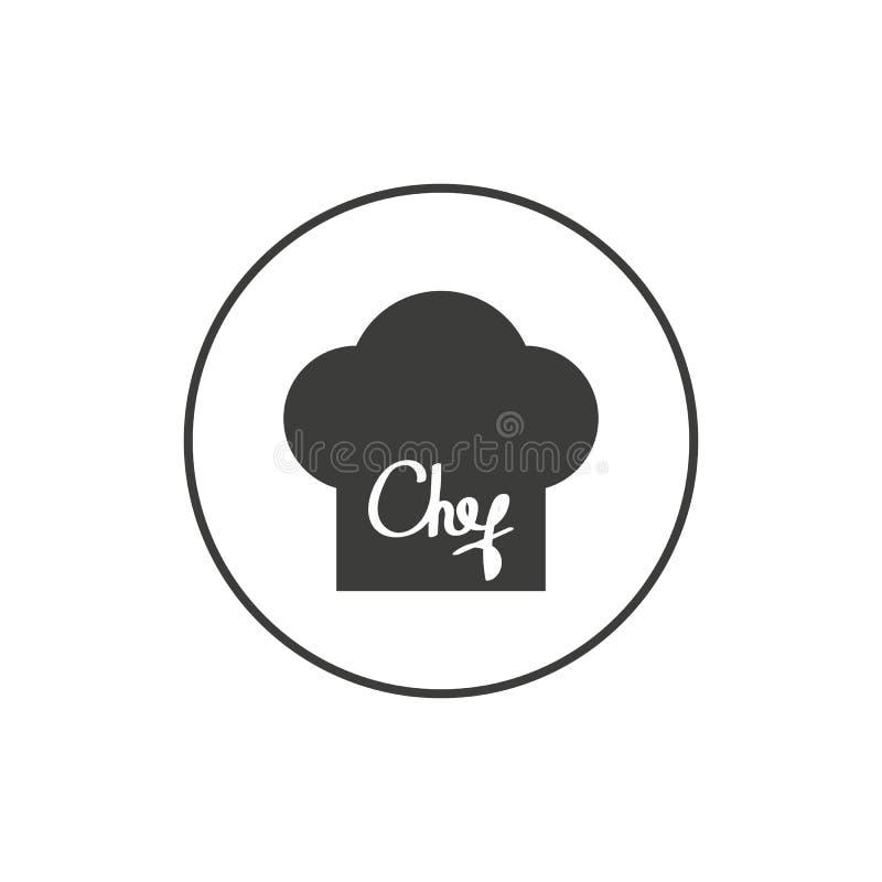 Chef-kok Hat Logo Template - Bakkerij Logo Vector vector illustratie