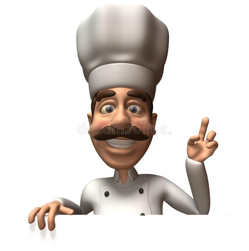 Chef-kok met een leeg teken