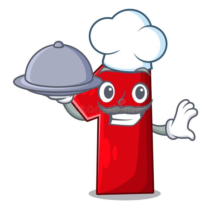 Chef-kok met voedselbeeldverhaal het aantal voor kampioen royalty-vrije illustratie