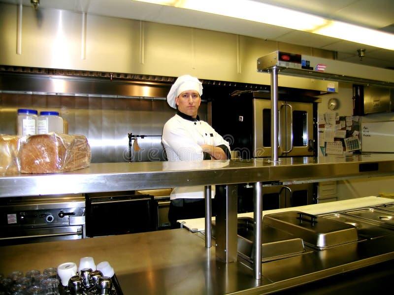 Chef-kok - op de Lijn royalty-vrije stock afbeelding