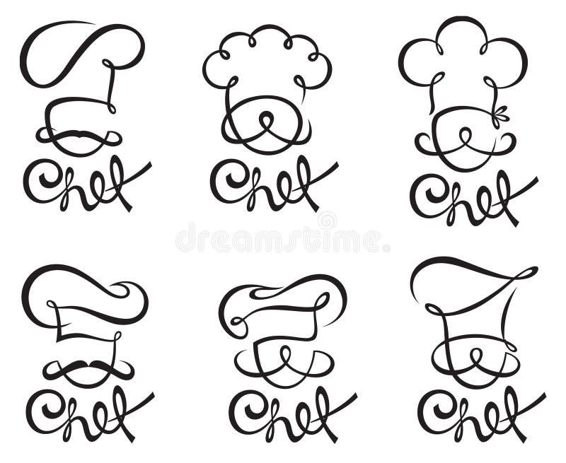 Chef-kok Set stock illustratie