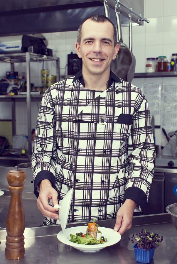 Chef-kok van het restaurant stock foto