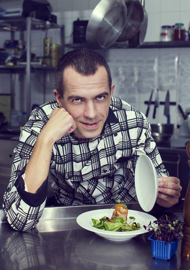Chef-kok van het restaurant stock afbeeldingen