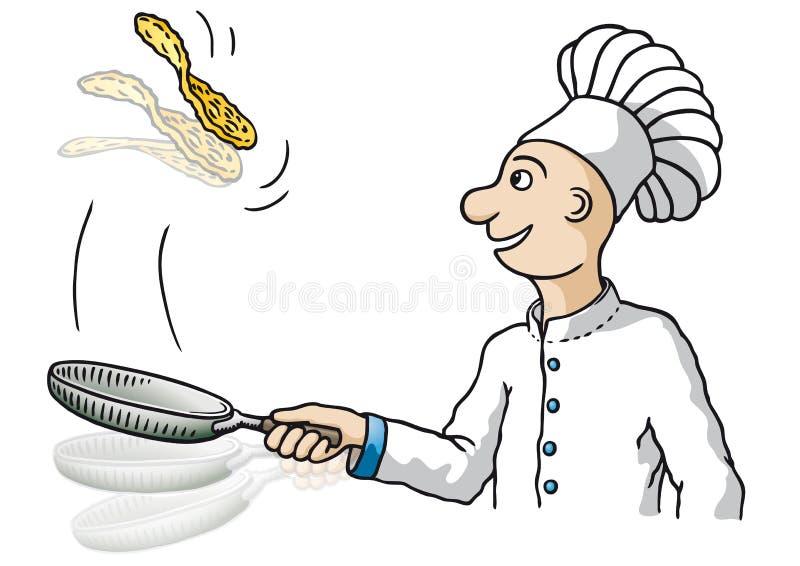 Chef-kok (vector) vector illustratie