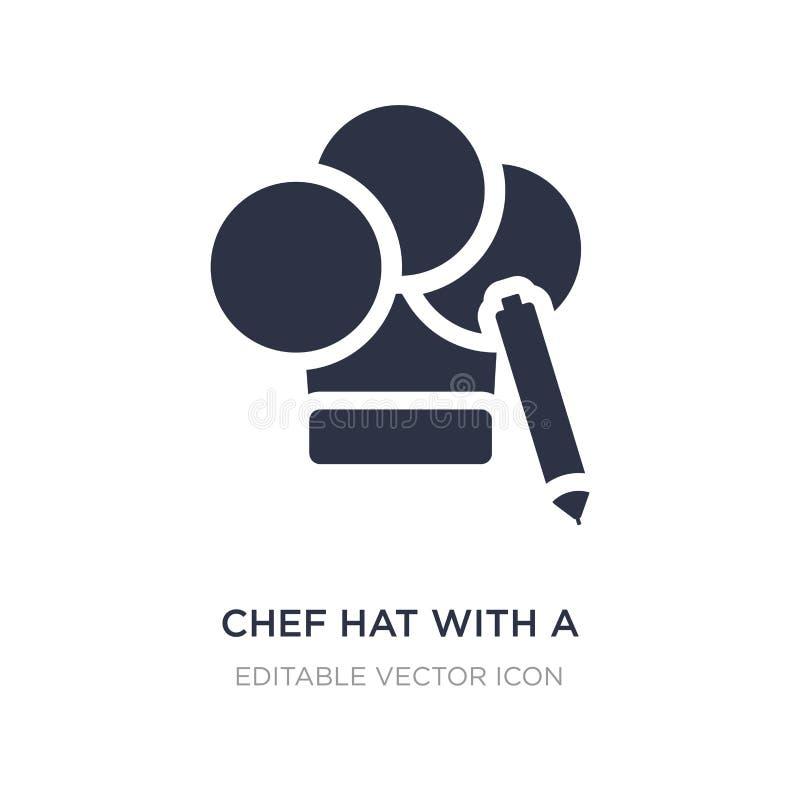 chef-kokhoed met een potloodpictogram op witte achtergrond Eenvoudige elementenillustratie van Algemeen concept royalty-vrije illustratie
