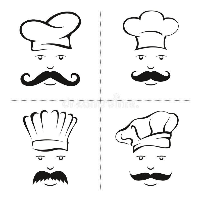 Chef-kokillustratie stock afbeeldingen